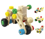 Eyotool Wooden Combination Building Blocks Educational Develop Exercise Thinking and Practical Ability Toys for Kids . Old