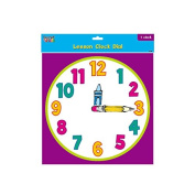 Teacher Building Blocks Lesson Clock Dial - Cartoon (Set of 2) judy clock, educational clock, teaching clock, analogue clock, learn to tell time