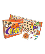 Slam Dunk Time Telling Game Set -- Clock Board Game for Teaching Time