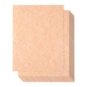 Pack of 96 Aged Parchment Paper - Parchtone Paper - Vintage Scrapbook Paper, Brown, 22cm x 28cm