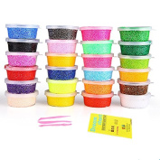 Dasiter Polymer Clay 24 Colours DIY Modelling Clay Soft Sticky Clay Air Dry Clay Kids Toys Crafts,20g/Case