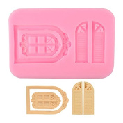 Delidge Vintage Fairy Garden Fairy or Gnome Home Door and Window Silicone Mould for Sugarcraft, Chocolate, Fondant, Resin, Polymer Clay, Soap Making,Silicone Sugarcraft Mould Gumpaste