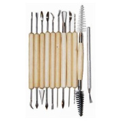 11pc Hobby Arts & Crafts Basic Pottery Clay Moulding Tool Set