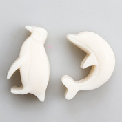 Pinkie Tm Dolphin and penguin fondant mould, cylindrical soap mould DIY Silicone Food Grade Silicone Mould