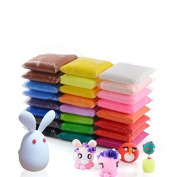 Polymer Clay Dasiter 24 Colours Air Dry Clay Super Light Modelling DIY Clay Soft Sticky Magic Clay for Kid's Crafts