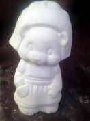 Pilgrim Girl Bear Ceramic Bisque, ready to paint