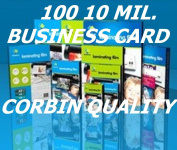 100 Pack, Business Card, 10 Mil. Thermal Laminating Laminator Pouches Sheets