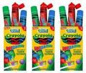 Sunstar GUM Crayola Squeeze-A-Colour Anti-Cavity Fluoride Toothpaste 45ml, 3 Tubes