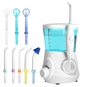 Water Dental Flossers,eTTgear Oral Irrigator Water Electronic Flosser Power 700ml Water Pick For Teeth, Braces and Bridges-Blue