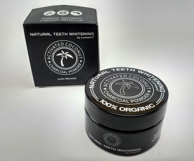 Natural Teeth Whitening Activated Natural Organic Coconut Charcoal For Sensitive Tooth and Gum Powder - Whiten, Clean and Detoxify - Vegan - No Chemicals - Gluten Free