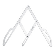 ATOMUS Stainless Steel Eyebrow Positioning DIY Eyebrow Stencil Ruler Callipers Permanent Makeup Gold Ratio Measure Tool