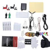 ShakeLady Tattoo Kit Supplies for Beginer, with 2 Rotary Machine Guns Motor 20pcs mixed tattoo needles Tattoo Nozzle Tip