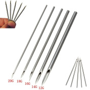 Ear Nose Piercing Needles - Mixed Piercing Needle Sizes 12G 14g 16G 18G and 20G for Ear Lip, Nose, Tongue Body Piercing Supplies
