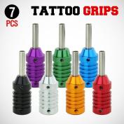 GotHobby 7pcs Mix Tattoo Machine Grips Aluminium Alloy w/ Stem by GotHobby