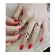 XILALU Women Geometry 3Pcs/Set Fashion Design Stack Above Knuckle Nail Ring