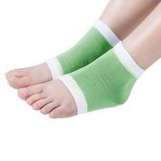 Gel Moisturising Socks Soft Repair Dry Cracked Heel,Green-White by NatreCare