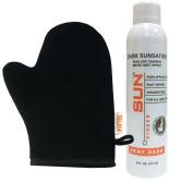 Sun Laboratories Dark Sunsation Very Dark Micro-Mist Spray, At Home Airbrush Spray Tan + Tanning Mitt