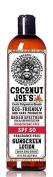 Zinc Oxide Sunscreen from Coconut Joe's | Natural & Organic Sunscreen Lotion, Mineral Sunscreen, SPF 50, Fragrance Free Sunscreen, 240ml bottle