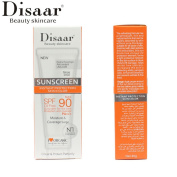 DISAAR SPF90+Sunscreen Bronz Foundation PA+++ Oil Free Sunblock Protection 40g