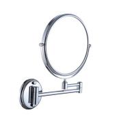 Jili Online 15cm Double-sided Wall Mounted Makeup Shaving Bathroom Mirror Folding Swivel Extendable