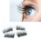 Odeer 2017 NEW Ultra-thin 0.2mm Magnetic Eye Lashes 3D Mink Reusable False Magnet Eyelashes Extension Black