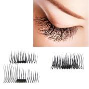 Odeer NEW Ultra-thin 0.4mm Magnetic Eye Lashes 3D Mink Reusable False Magnet Eyelashes Extension Black