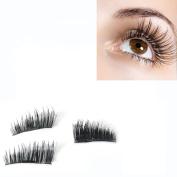 3D Eyelashes,Muxika New Ultra-thin 0.2mm Magnetic Eye Lashes 3D Mink Reusable False Magnet Eyelashes Extension for Women