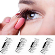 YRD TECH NEW Ultra-thin Magnetic Eye Lashes 7mm 3D Mink Reusable False Magnet Eyelashes Extension