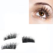 3D Magnetic False Eyelashes,Efaster Ultra-thin Lifelike Re-usable False 0.2mm Eyelashes Ms. Magnetic Eye Lashes