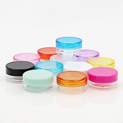 80PCS Empty Clear Plastic Cosmetic Containers Travel Bottle Pot Jars for Shampoo, Conditioner, Lotion, Toiletries 8 Colours