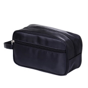 Opromo Multifunctional Toiletry Bag Travel Dopp Shaving Kit with Hand Strap BLACK