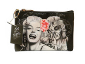 """David Gonzales Art make up bag Marilyn Monroe """"Smile Now Cry Later"""""""