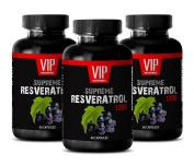 Immune system booster vitamins - SUPREME RESVERATROL 1200Mg - Resveratrol green tea - 3 Bottles 180 Capsules