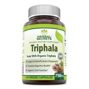 Herbal Secrets Triphala 750 Mg 120 Veggie Capsules - Made with Organic Triphala
