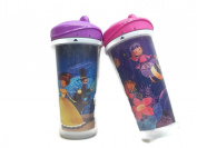 "PLAYTIME INSULATED SPILL-PROOF SPOUT CUPS ""PRINCESS THEME"" ( 2 Cups each 270ml) ++BONUS BABY WIPES++"