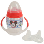 Disney Mickey Mouse 6 Piece Grow with Me Sippy Cup, Red