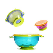 Ancaixin Baby Bowls Set with Sucker 3 Sizes Solid Feeding for Kids Toddler Ages 1-3 Stackable BPA Free