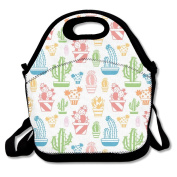 Cute Cacti Extra Large Picnic Lunch Tote Food Container