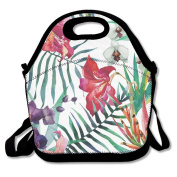 Watercolour Floral Extra Large Gourmet Lunch Tote Food Bag