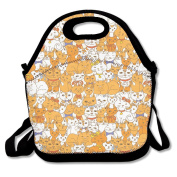 Funny Cats Pattern Extra Large Picnic Lunch Tote Food Container
