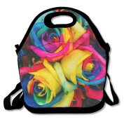 Rainbow Rose Extra Large Picnic Lunch Tote Food Container