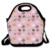 Cats Pattern Extra Large Gourmet Lunch Tote Food Bag