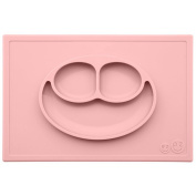 ezpz Happy Mat - One-piece silicone placemat + plate