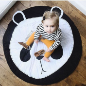 EITC Lovely Animals Panda Face Quilted Round Play Mats Baby Developing Blankets