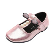 Nikuya Autumn Kids Children Girls Pearl Bow Sandals Casual Fashion Bowknot Flat Shoes