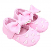 GBaoY Infant Toddler Baby Soft Soled Bowknot Crib Shoes Perfect for Walking and Crawling Pink