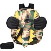 Kivors Kids Toddler Backpack Animal Mini Preschool Backpack Little Kids Snack Backpack with Safety Harness Leash, Dinosaur, Camouflage