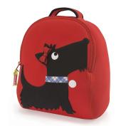 Dabbawalla bags Scottie Dog Backpack, Red/Black