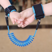 1.5m Ultimate Child Safety Anti-Lost Harness Strap I Baby Wristband Link Rope I Parent-Kid Skin-Friendly Cotton Leash Assistant Hand Cuffs w/ Hook and loop Closure
