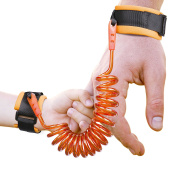 Anti Lost Wrist Link, Gvoo Safety Harness Leash Strap Walking Hand Belt Rope for Child Toddlers Kids Babies (1.5m)-Orange